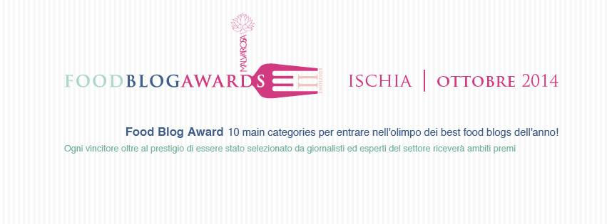 partecipo a: food blog awards