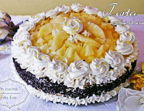 Torta crema e ananas