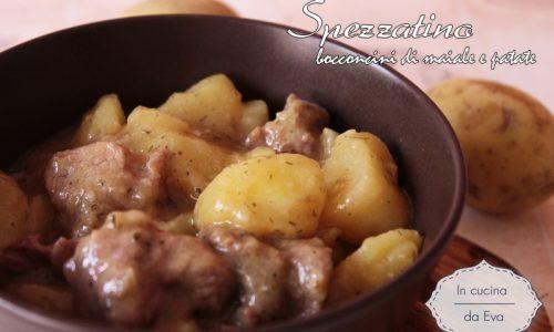 Spezzatino bocconcini maiale patate