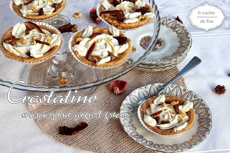 Crostatine mascarpone yogurt greco