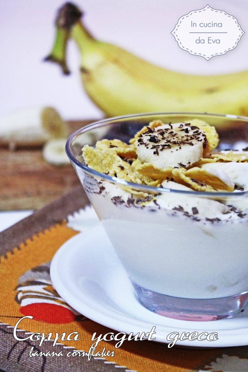 Coppa yogurt greco banana cornflakes3