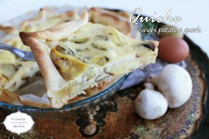 Quiche funghi patate quark