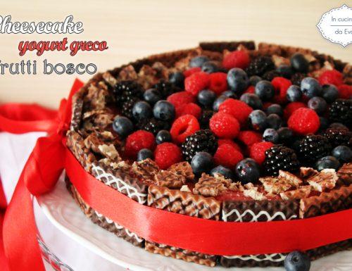 Cheesecake yogurt greco frutti bosco