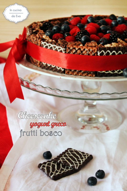 Cheesecake yogurt greco frutti bosco