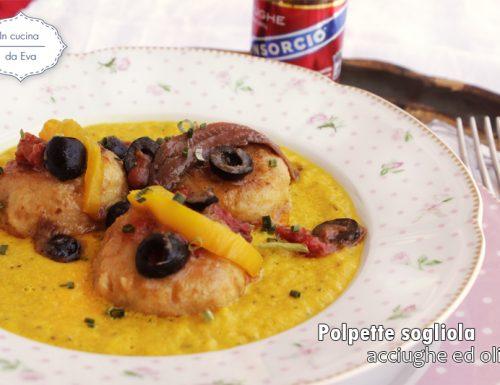 Polpette sogliola acciughe ed olive