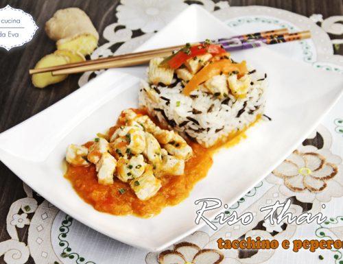 Riso thai tacchino e peperoni