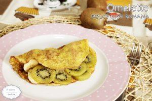 Omelette dolce kiwi banana