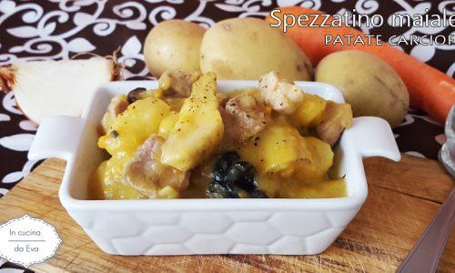 Spezzatino maiale patate carciofi