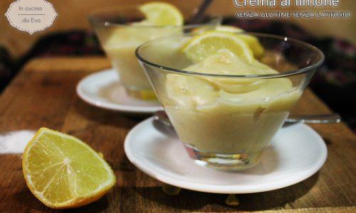 Crema al limone senza glutine senza lattosio