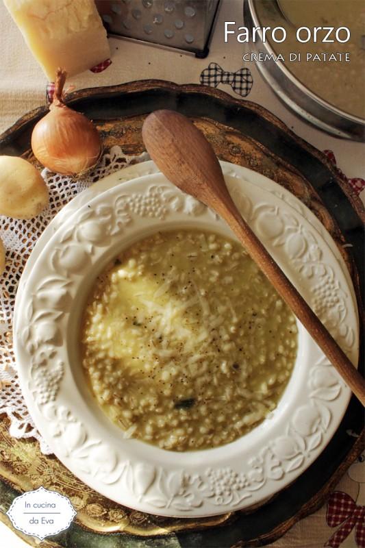 Farro orzo crema di patate