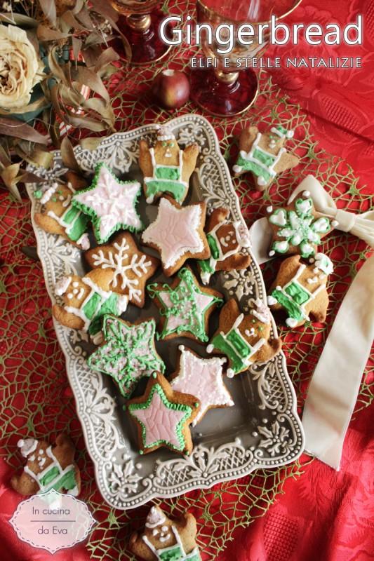 Gingerbread elfi e stelle natalizie