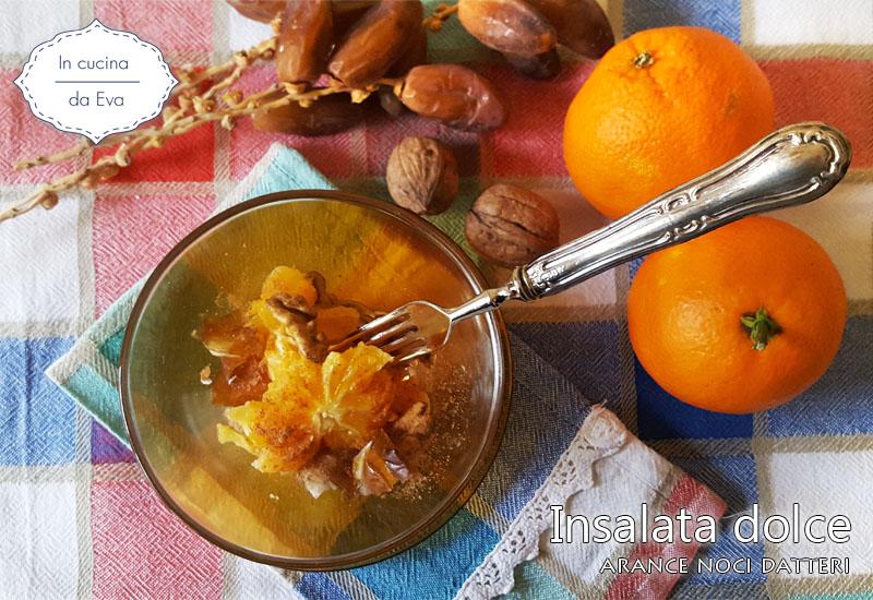 Insalata dolce arance noci datteri