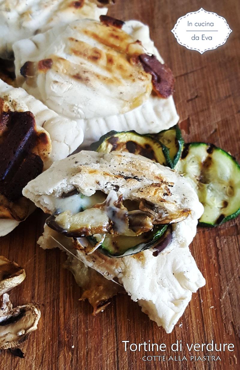 Tortine di verdure cotte alla piastra