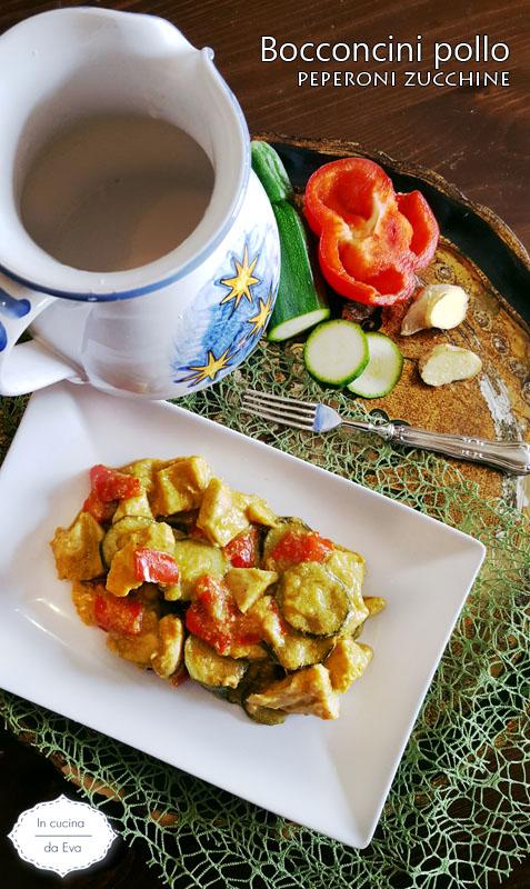 Bocconcini pollo peperoni zucchine