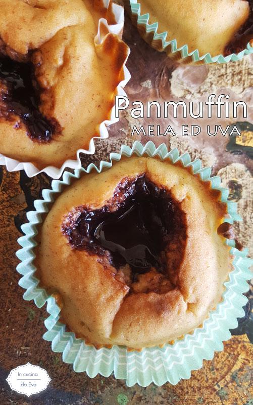 Panmuffin mela ed uva