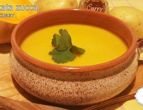 Vellutata zucca patate curry