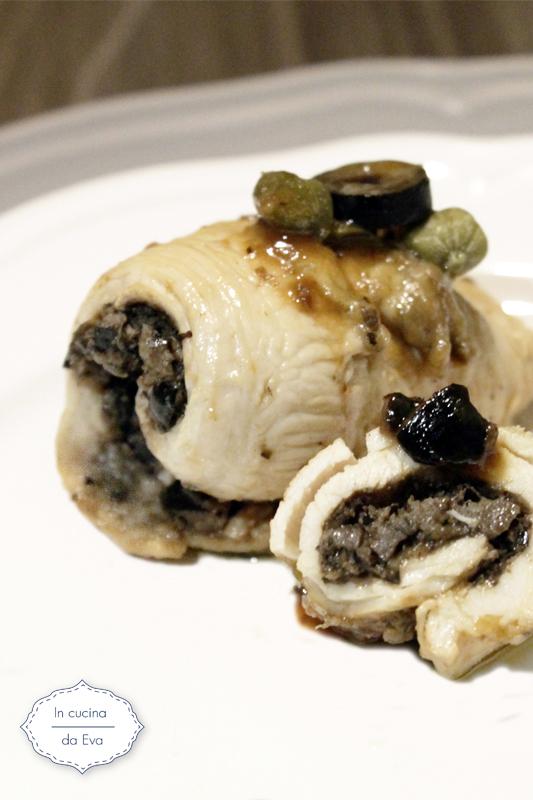 Involtini con olive nere e capperi