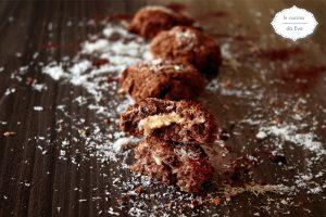 Biscotti cocco cioccolato e crema di arachidi