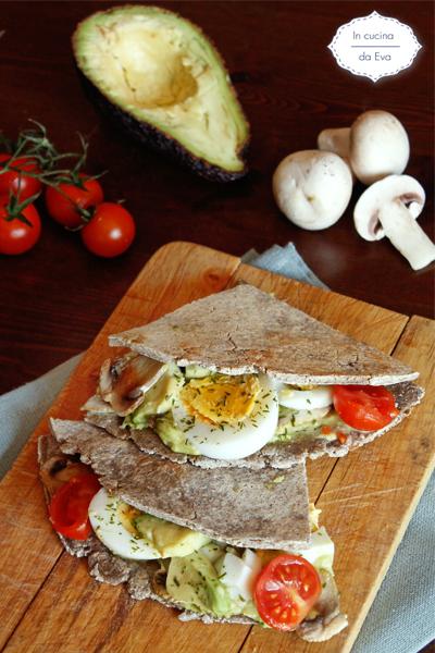 Piadina grano saraceno vegetariana