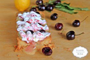 Crostata crema limone e ciliegie