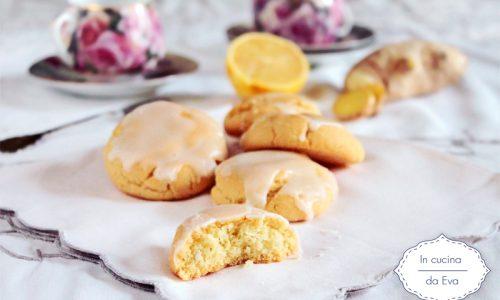 Biscotti al limone e zenzero glassati