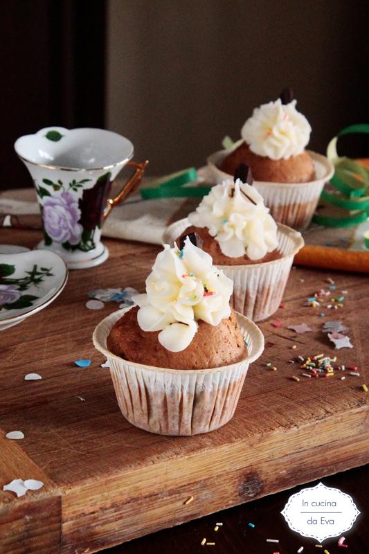 Muffin di zucca con frosting al limone