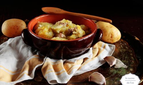 Verza salsiccia e patate