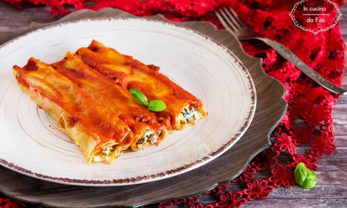 Cannelloni ricotta macinato e spinaci