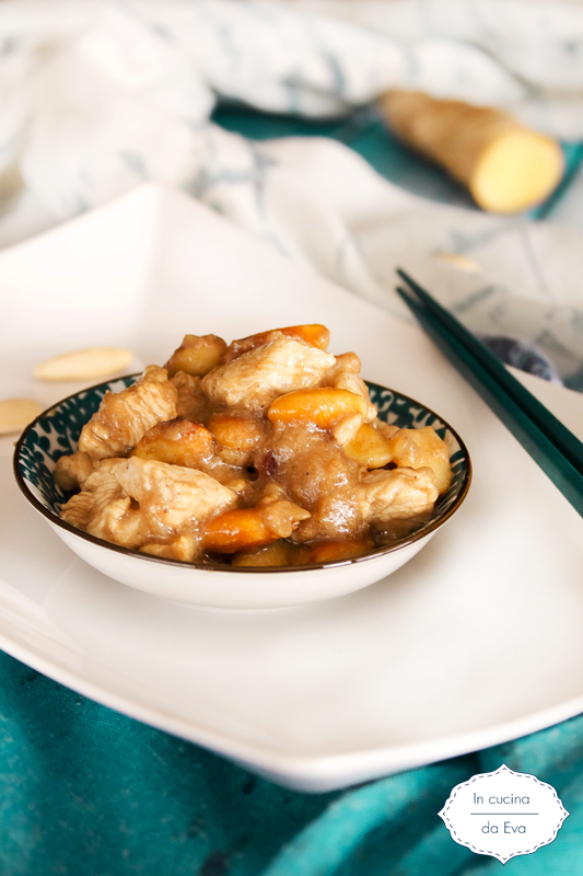 Pollo e mandorle fritte