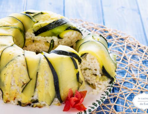 Ciambella di riso e zucchine