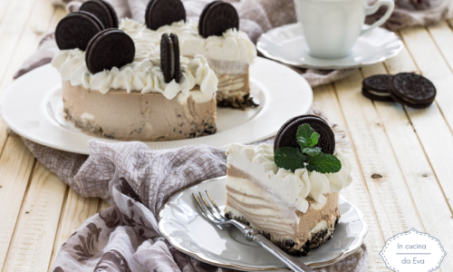 Cheesecake oreo al cioccolato e yogurt