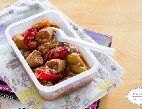 Salsiccia e peperoni all'aceto balsamico