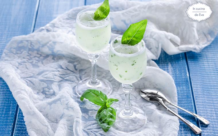 Sorbetto limone e basilico senza zucchero