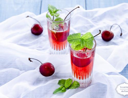 Liquore alle ciliegie e jin