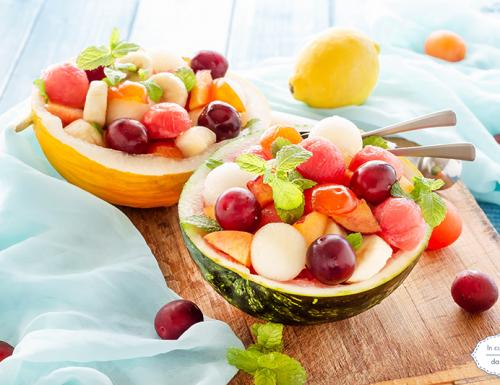 Macedonia con frutta estiva