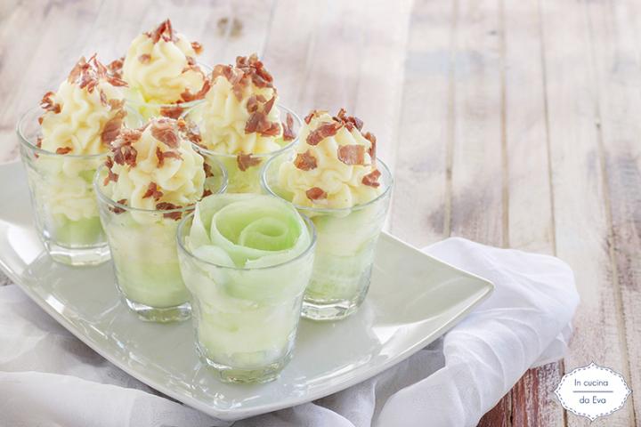 Bicchierini cetriolo e patate
