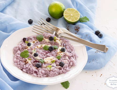Risotto mirtilli e lime
