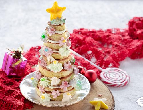 Alberello di Natale di pancake