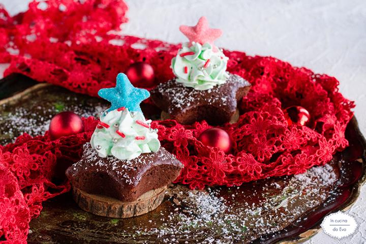 Muffin alberello con stella