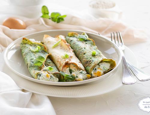 Crêpes ricotta spinaci e mais