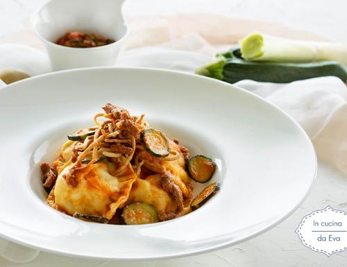 Ravioli con patate e macinato