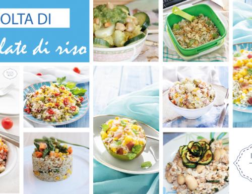 Raccolta di insalate di riso