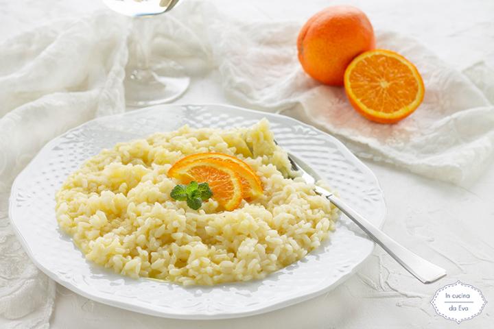 Risotto con arancia