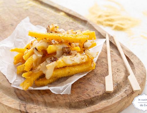 Stick di polenta fritta con cipolla