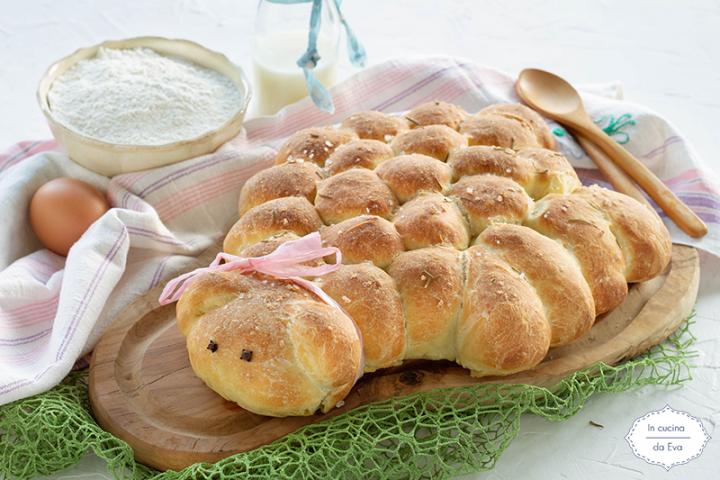 Agnellino di pan brioche