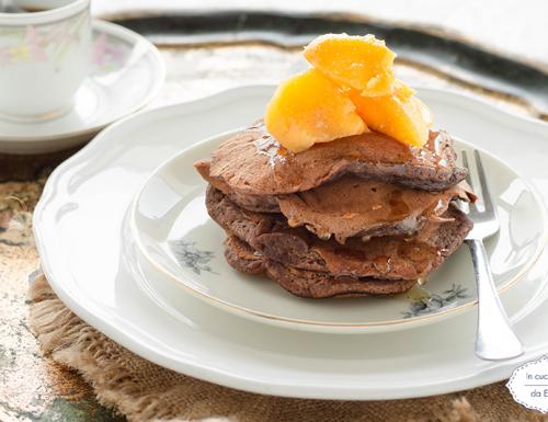 Pancake banana e cacao con solo albume