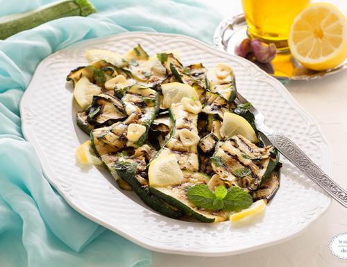 Zucchine aglio olio e menta e limone