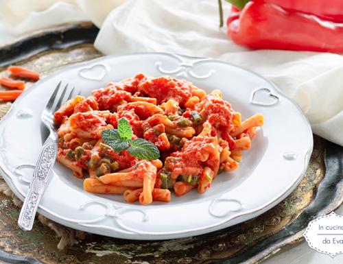 Pasta di lenticchie peperoni e fagiolini
