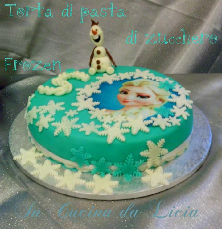 Torta con pasta di zucchero frozen