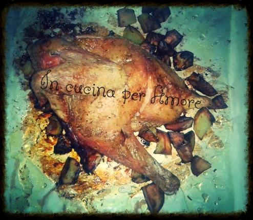 Pollo nostrano al forno con patate